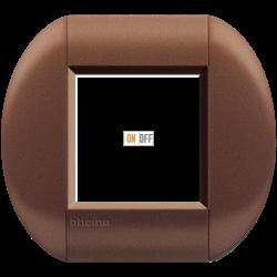 Рамка 1-ая (одинарная) овальная, цвет Марракеш, LivingLight, Bticino