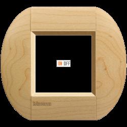 Рамка 1-ая (одинарная) овальная, цвет Дерево Клен, LivingLight, Bticino