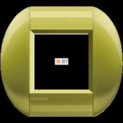 Рамка 1-ая (одинарная) овальная, цвет Лимон, LivingLight, Bticino