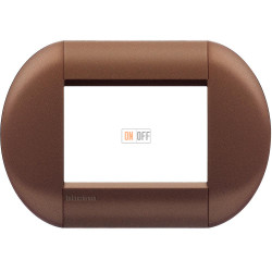 Рамка итальянский стандарт 3 мод овальная, цвет Марракеш, LivingLight, Bticino