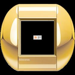 Рамка 1-ая (одинарная) овальная, цвет Золото, LivingLight, Bticino