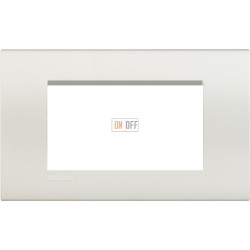 Рамка итальянский стандарт 4 мод прямоугольная, цвет Белый, LivingLight, Bticino