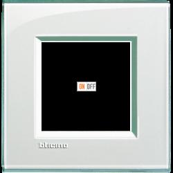Рамка 1-ая (одинарная) прямоугольная, цвет Морская вода, LivingLight, Bticino