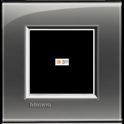 Рамка 1-ая (одинарная) прямоугольная, цвет Лондонский туман, LivingLight, Bticino