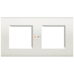 Рамка 2-ая (двойная) прямоугольная, цвет Белый, LivingLight, Bticino