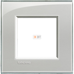 Рамка 1-ая (одинарная) прямоугольная, цвет Серое небо, LivingLight, Bticino