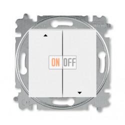 Выключатель для жалюзи (рольставней) кнопочный, цвет Белый/Ледяной, Levit, ABB