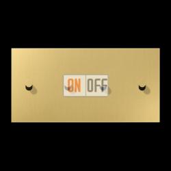 Выключатель 2-кл + Выключатель 2-кл кноп. НО (тумблер-конус) гориз, цвет Classic, LS1912