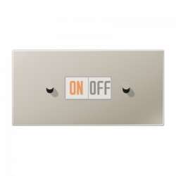 Выключатель 1-кл прох. + Выключатель 1-кл кноп. НО (тумблер-конус) гориз, цвет Нерж. сталь, LS1912