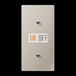 Выключатель 1-кл прох. + Выключатель 1-кл кноп. (тумблер-конус) верт, цвет Нерж. сталь, LS1912