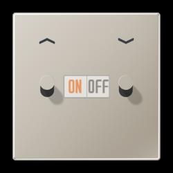 Выключатель для жалюзи (рольставней) кноп. (тумблер-конус), цвет Нерж. сталь, LS1912