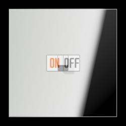 Выключатель 1-кл кноп. НО (тумблер-куб), цвет Хром, LS1912