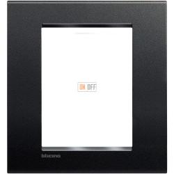 Рамка итальянский стандарт 3+3 мод прямоугольная, цвет Антрацит, LivingLight, Bticino