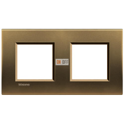Рамка 2-ая (двойная) прямоугольная, цвет Бронза, LivingLight, Bticino