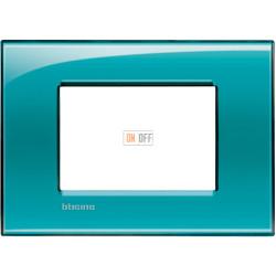 Рамка итальянский стандарт 3 мод прямоугольная, цвет Зеленый, LivingLight, Bticino