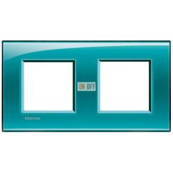 Рамка 2-ая (двойная) прямоугольная, цвет Зеленый, LivingLight, Bticino