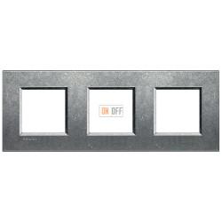 Рамка 3-ая (тройная) прямоугольная, цвет Исконный, LivingLight, Bticino