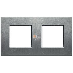 Рамка 2-ая (двойная) прямоугольная, цвет Исконный, LivingLight, Bticino