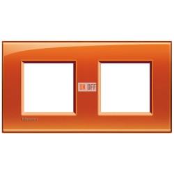 Рамка 2-ая (двойная) прямоугольная, цвет Оранжевый, LivingLight, Bticino