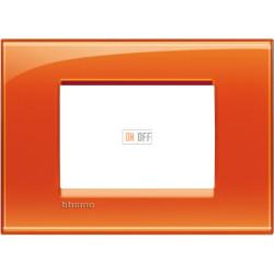 Рамка итальянский стандарт 3 мод прямоугольная, цвет Оранжевый, LivingLight, Bticino
