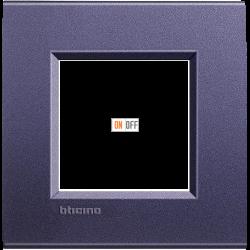 Рамка 1-ая (одинарная) прямоугольная, цвет Синий шелк, LivingLight, Bticino
