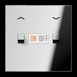 Выключатель для жалюзи (рольставней) кноп. (тумблер-куб), цвет Хром, LS1912