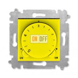 Терморегулятор для теплого пола, цвет Желтый/Дымчатый черный, Levit, ABB