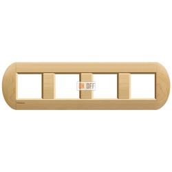 Рамка 4-ая (четверная) овальная, цвет Дерево Клен, LivingLight, Bticino