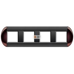 Рамка 4-ая (четверная) овальная, цвет Бордовый, LivingLight, Bticino