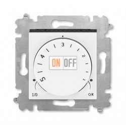 Терморегулятор для теплого пола, цвет Белый/Дымчатый черный, Levit, ABB