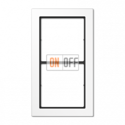 Рамка 2-ая (двойная) , цвет Белый, FD Design, Jung