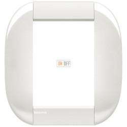 Рамка итальянский стандарт 3+3 мод овальная, цвет Белый, LivingLight, Bticino