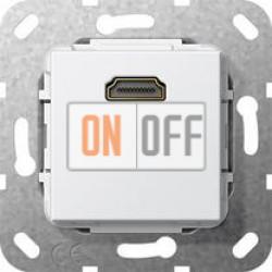 Розетка HDMI 1-ая (разветвительный кабель), цвет Белый, Gira