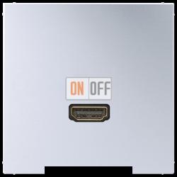 Розетка HDMI 1-ая (разъем), цвет Алюминий, LS990, Jung