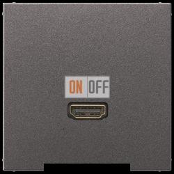 Розетка HDMI 1-ая (разъем), цвет Антрацит, LS990, Jung