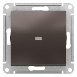 Выключатель 1-клавишный ,проходной (с двух мест), Мокко, серия Atlas Design, Schneider Electric