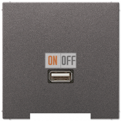 Розетка USB 1-ая (разъем), цвет Антрацит, LS990, Jung