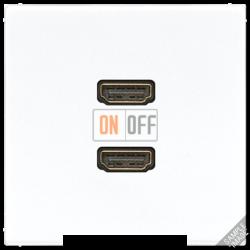 Розетка HDMI 2-ая (разъем), цвет Бежевый, LS990, Jung