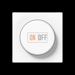 Диммер поворотно-нажимной 1000Вт для ламп накаливания, цвет Белый, A500, Jung