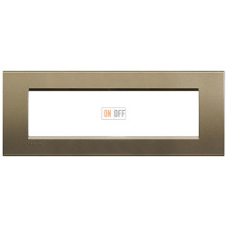 Рамка итальянский стандарт 7 мод прямоугольная, цвет Коричневый шелк, LivingLight, Bticino