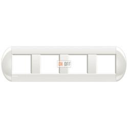 Рамка 4-ая (четверная) овальная, цвет Белый, LivingLight, Bticino