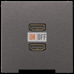 Розетка HDMI 2-ая (разъем), цвет Антрацит, LS990, Jung