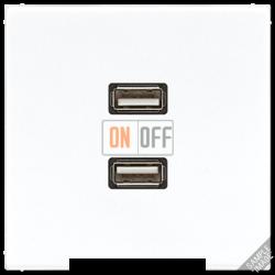 Розетка USB 2-ая (разъем), цвет Бежевый, LS990, Jung