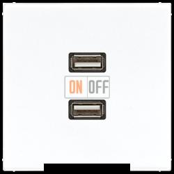 Розетка USB 2-ая (разъем), цвет Белый, LS990, Jung