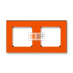 Рамка 2-ая (двойная), цвет Оранжевый/Дымчатый черный, Levit, ABB
