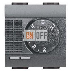 Терморегулятор для теплого пола, цвет Антрацит, LivingLight, Bticino