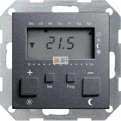 Термостат с режимом охлаждения, цвет Антрацит, Gira