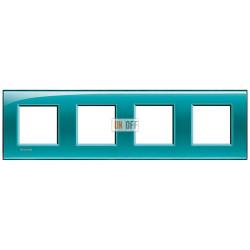 Рамка 4-ая (четверная) прямоугольная, цвет Зеленый, LivingLight, Bticino
