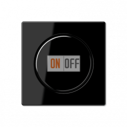 Диммер поворотно-нажимной 1000Вт для ламп накаливания, цвет Черный, A500, Jung