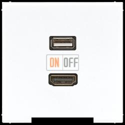 Розетка USB/HDMI (разъем), цвет Белый, LS990, Jung